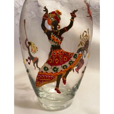 """Танец Африки"" .Ваза для цветов."