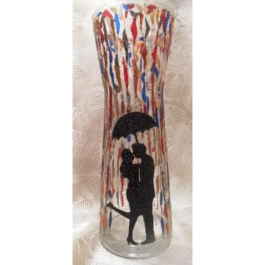 """""""Влюбленные под зонтом"""". Ваза для цветов"""